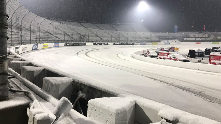 Snow at Martinsville Speedway