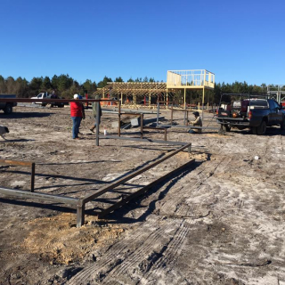 Tri-County Speedway construction