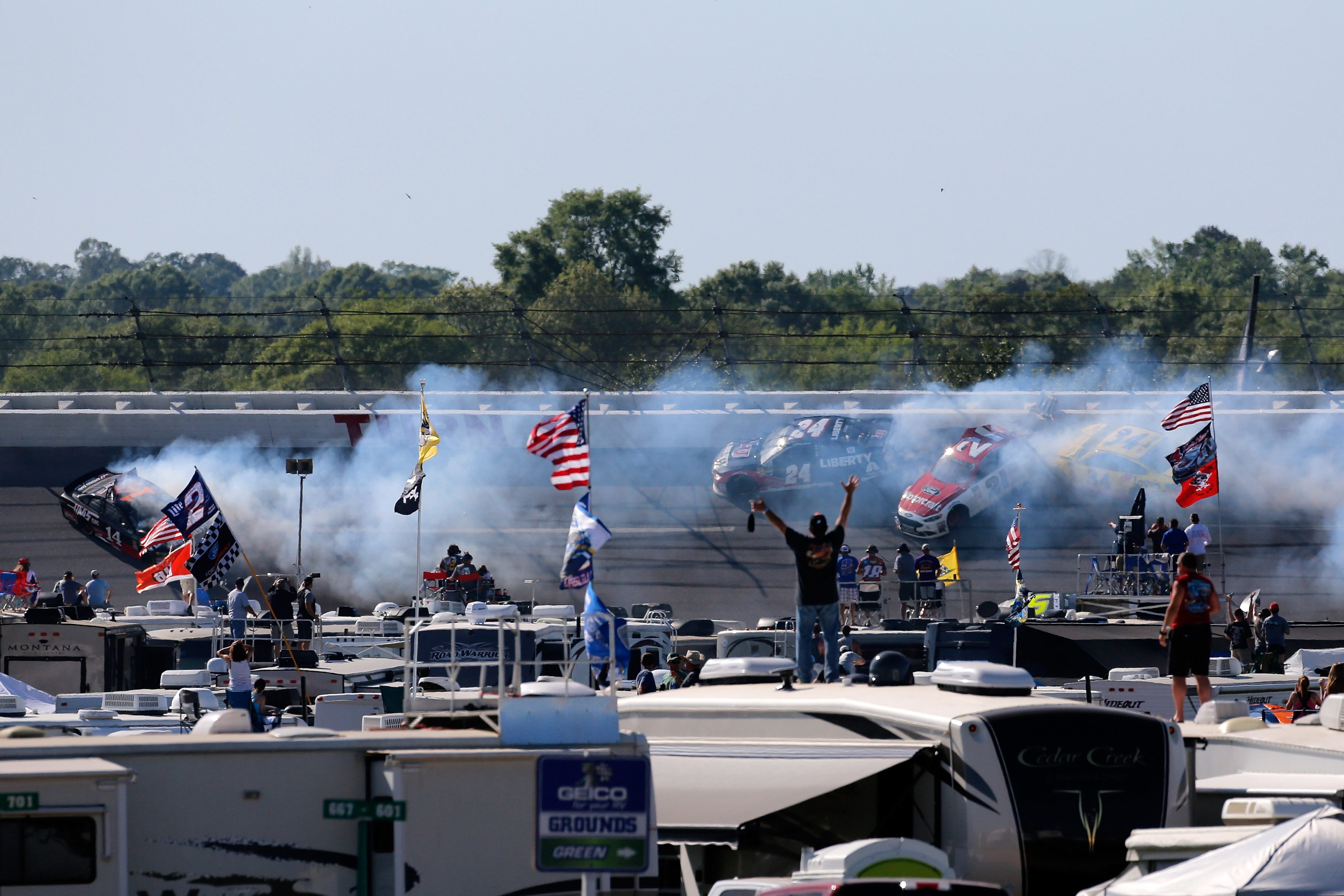 Big crash at Talladega Superspeedway