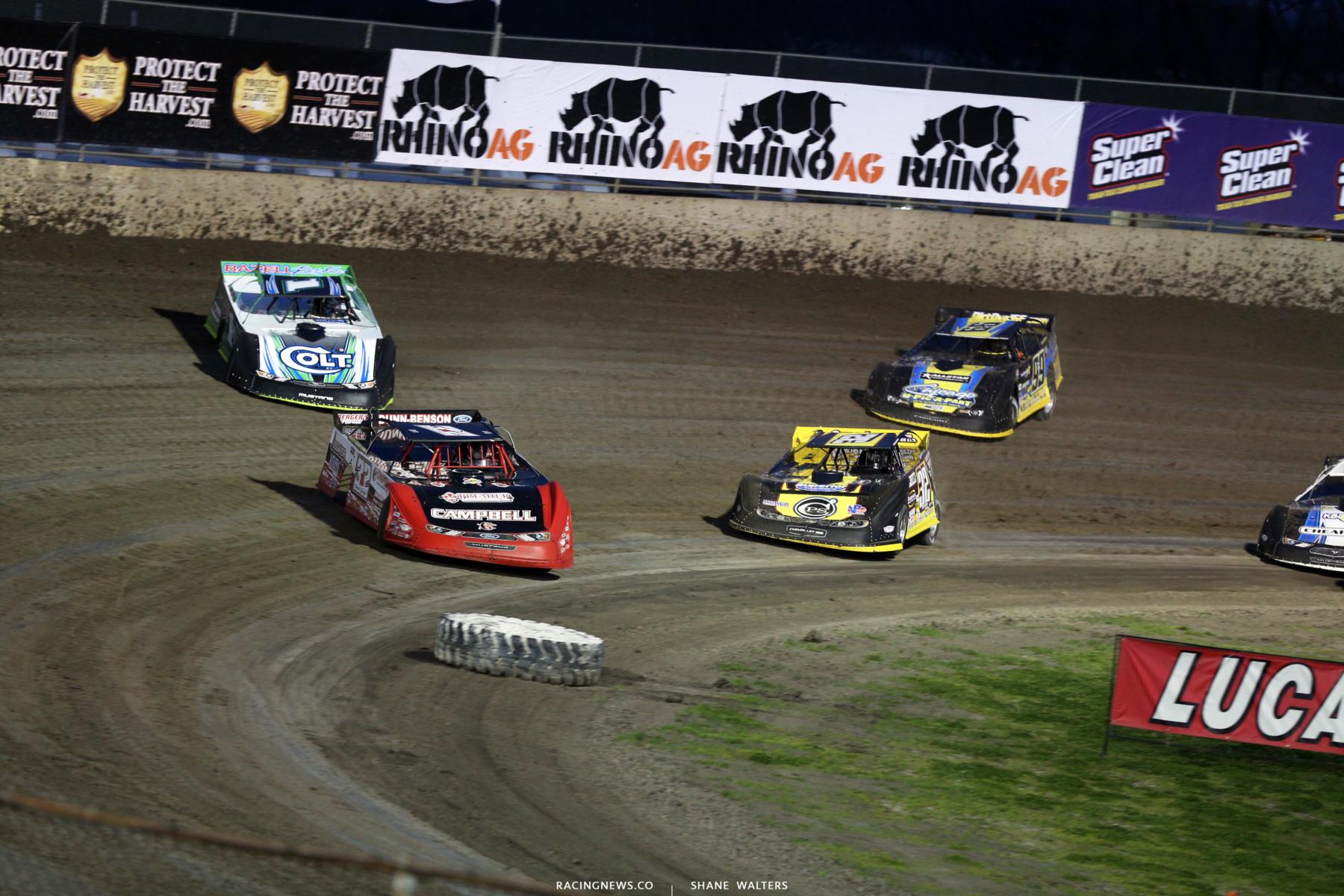 Bobby Pierce, Josh Richards, Chris Simpson and Frank Heckenast Jr at Tri-City Speedway 4424