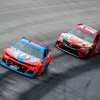 Bubba Wallace leads at Bristol Motor Speedway