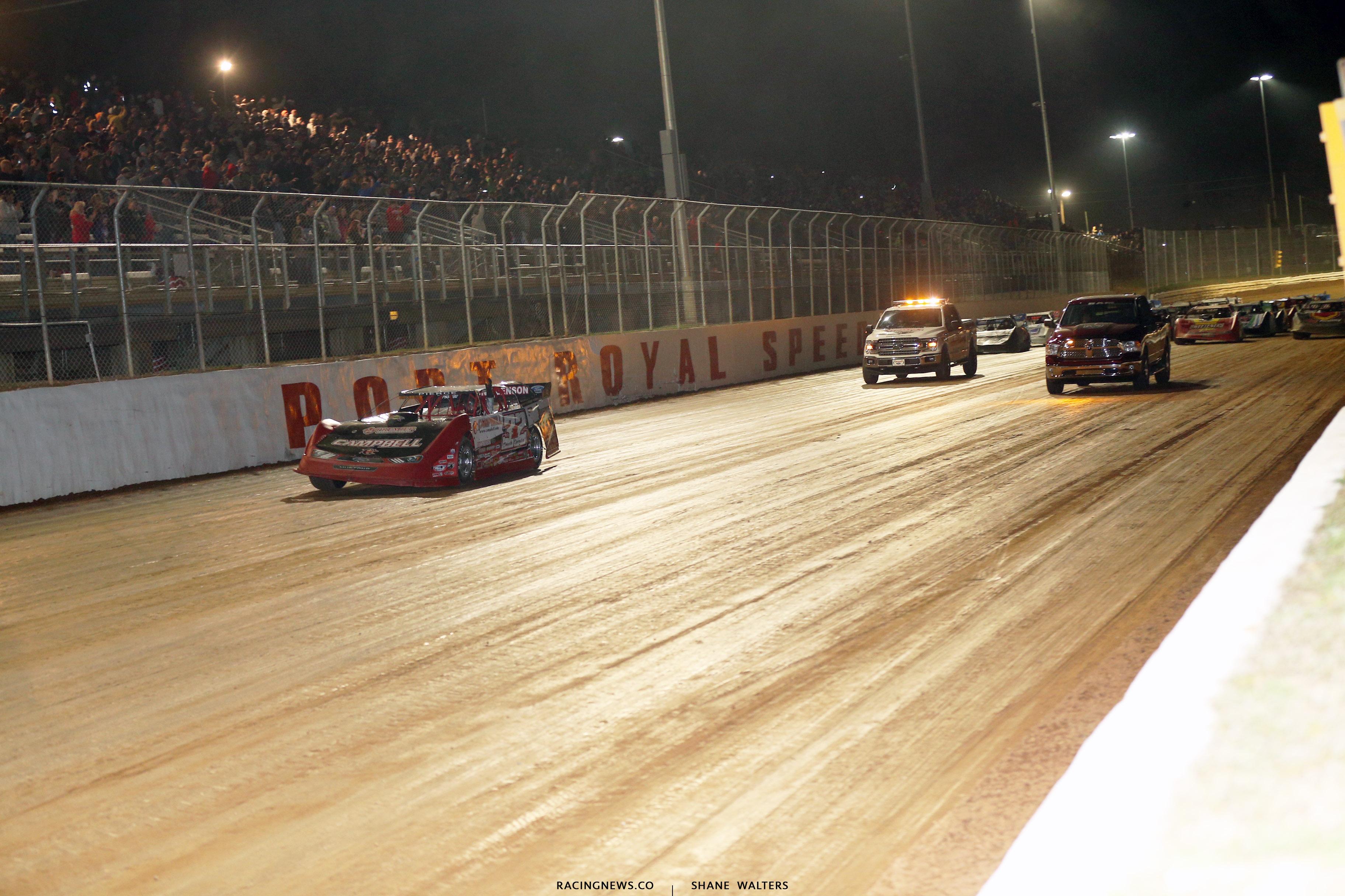 Carlton Lamm 4 wide salute - Tribute at Port Royal Speedway