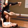 Danica Patrick yoga pose