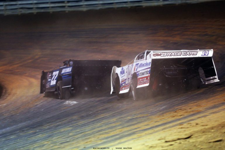 Gregg Satterlee and Darrell Lanigan at Hagerstown Speedway 3207