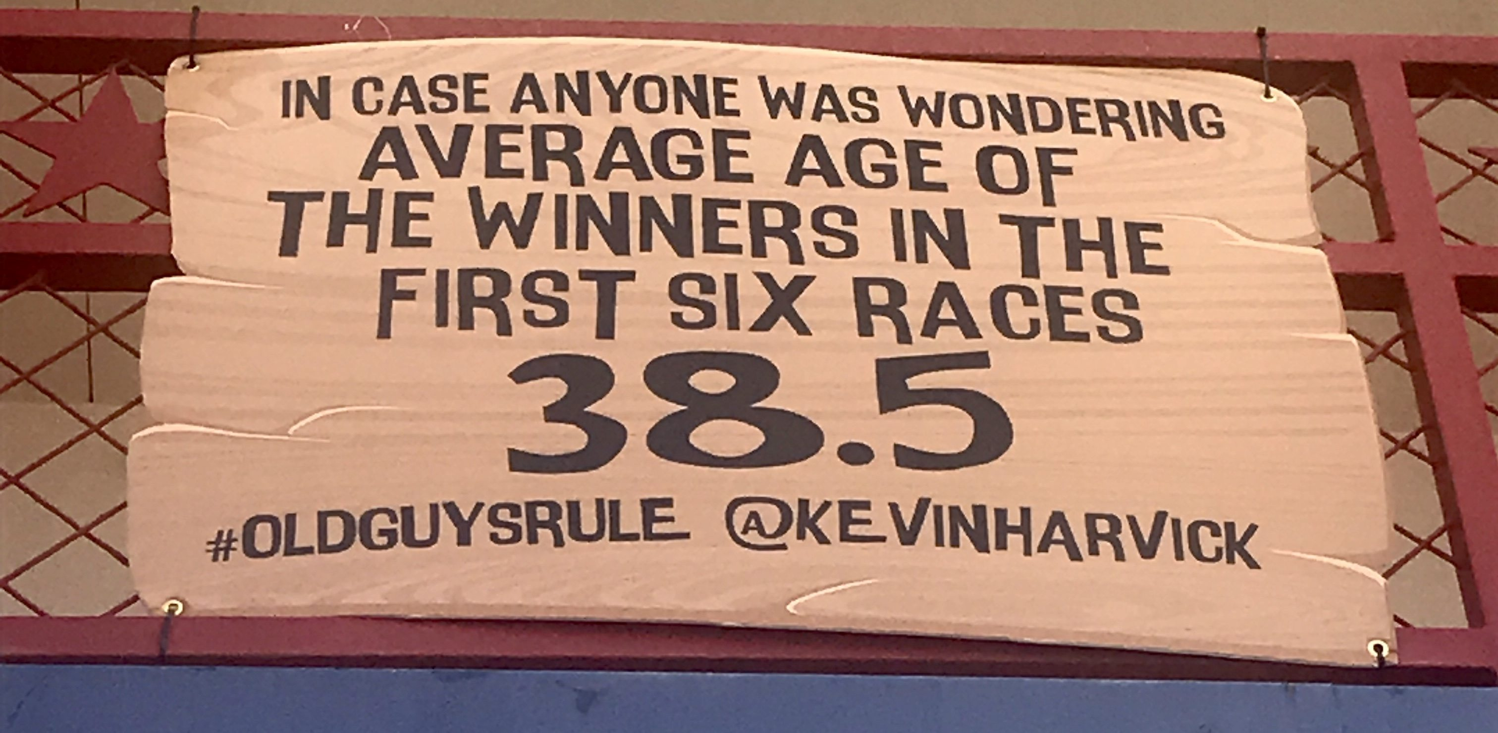 In case anyone was wondering average age of the winners in the first six races 38.5 #OldGuysRule -Kevin Harvick