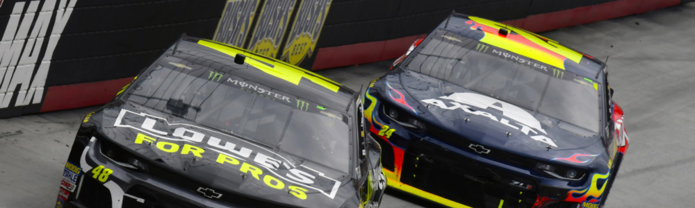 Jimmie Johnson explains why the bottom lane at Bristol was so strong