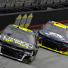 Jimmie Johnson and William Byron at Bristol Motor Speedway