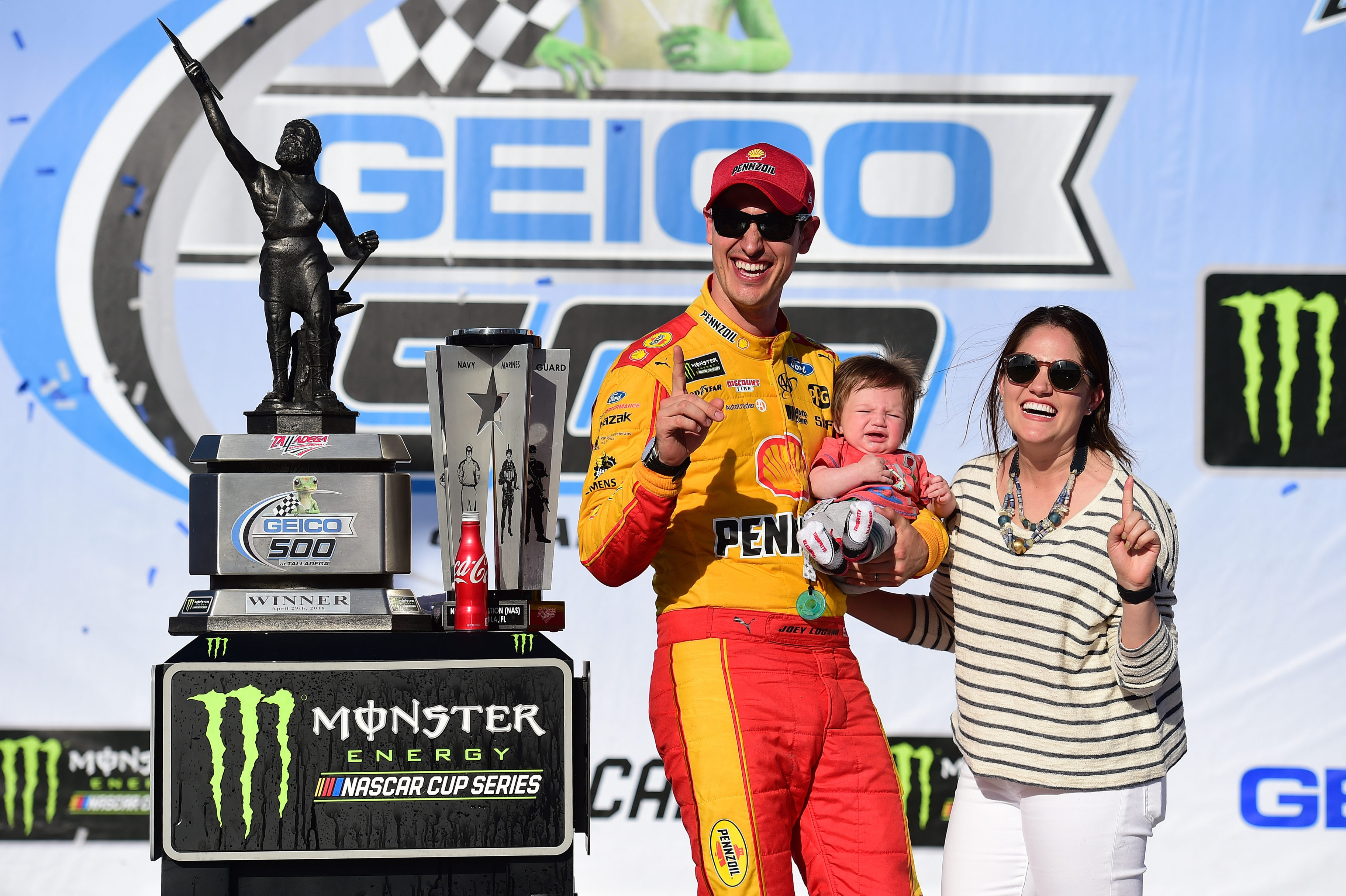 Joey Logano and Brittany Baca - Talladega Superspeedway