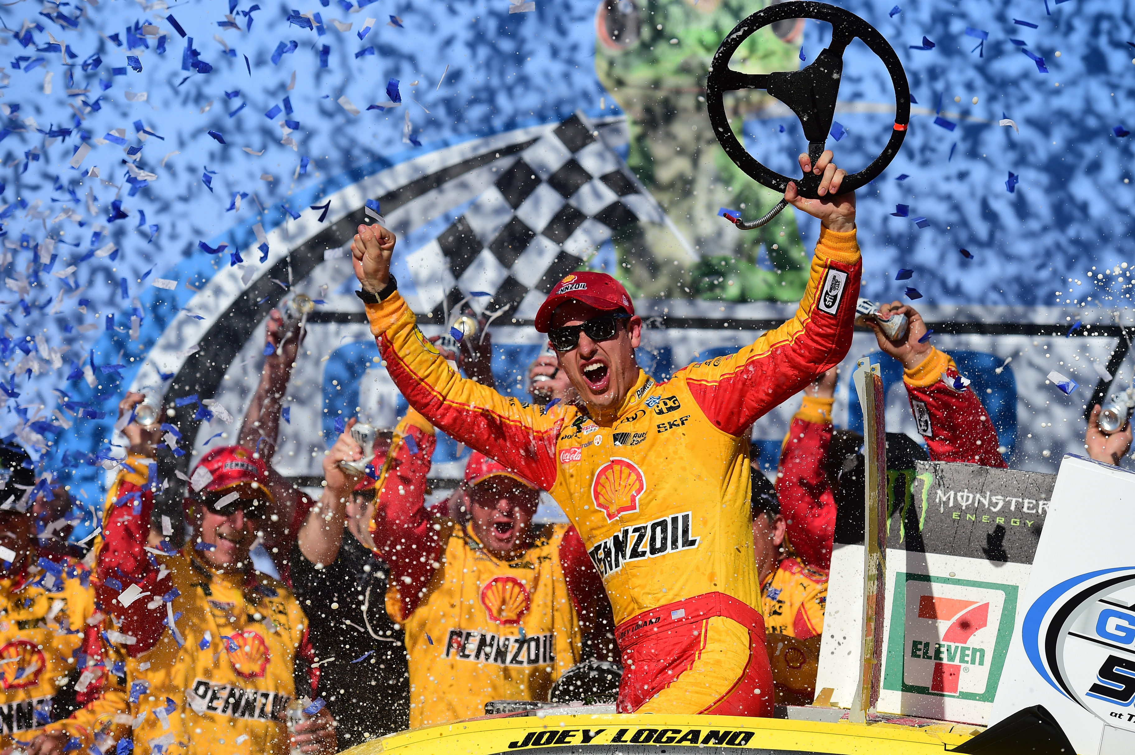 Joey Logano wins at Talladega Superspeedway - Victory Lane