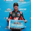Kurt Busch wins the Busch Pole Award