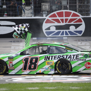 Kyle Busch wins the NASCAR Cup Series race at Texas Motor Speedway