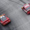 Kyle Larson and Kyle Busch at Bristol Motor Speedway