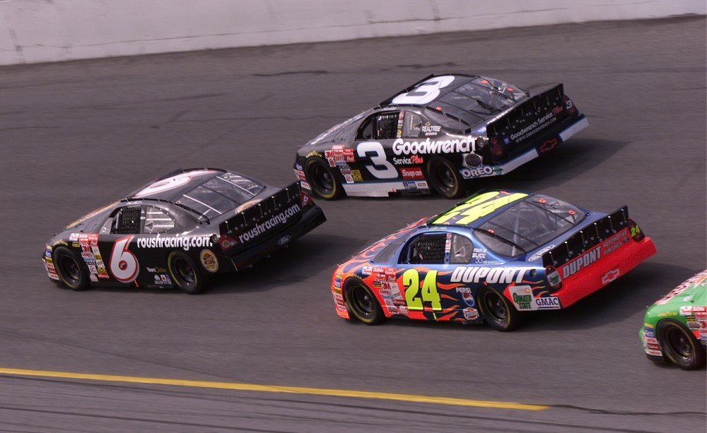 Martin Martin, Dale Earnhardt Sr and Jeff Gordon at Daytona International Speedway