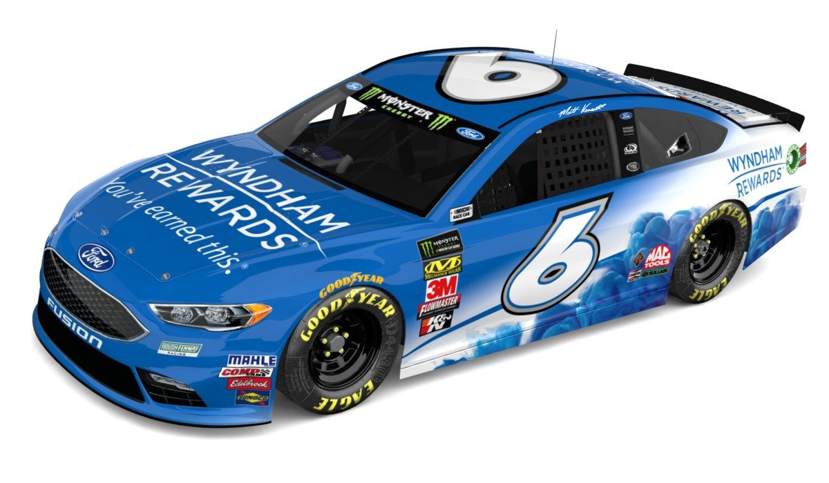 Matt Kenseth 2018 car - Wyndham Hotels
