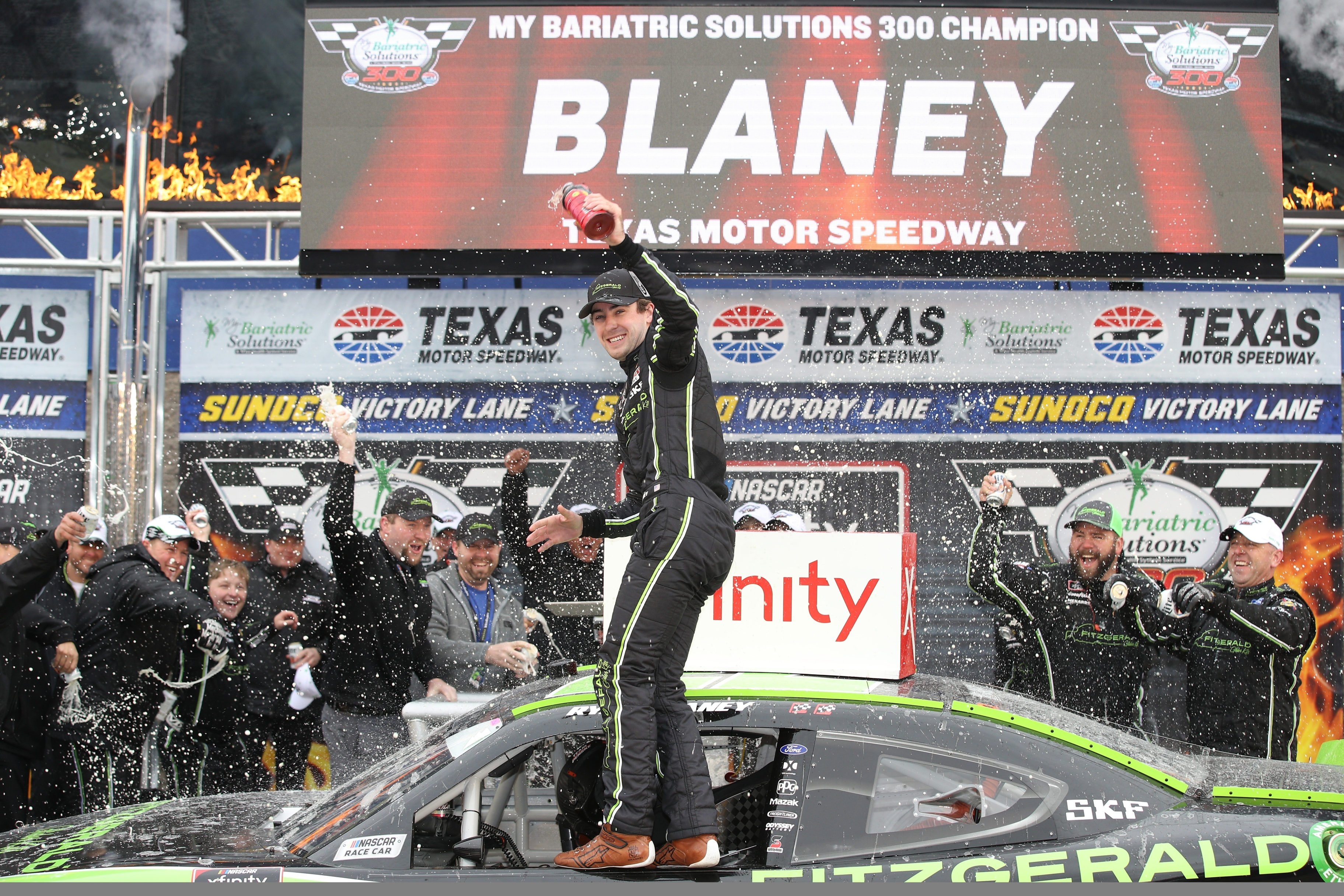 Ryan Blaney in victory lane - NASCAR Xfinity Series