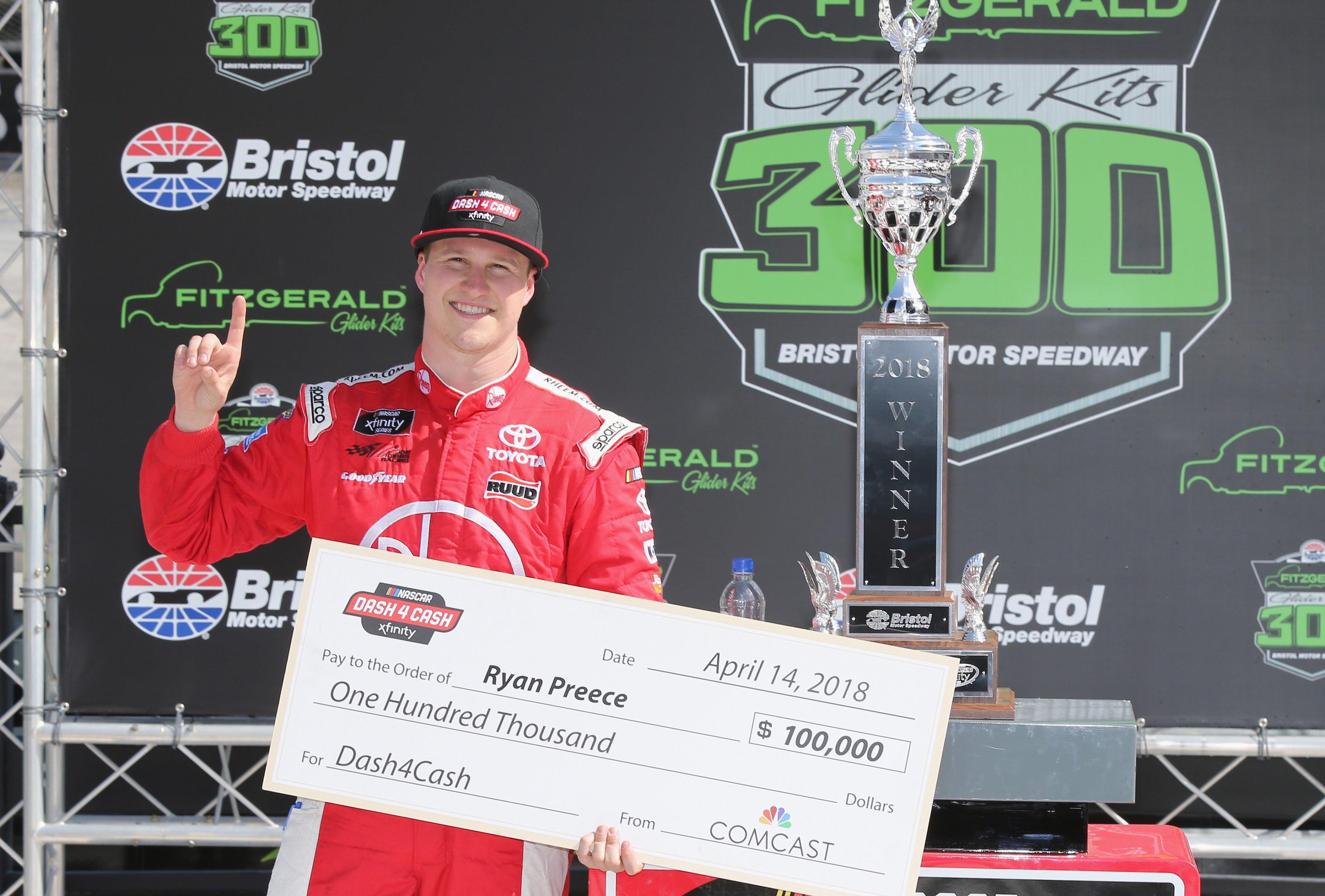 Ryan Preece wins the Dash for Cash at Bristol Motor Speedway
