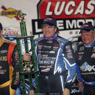 Scott Bloomquist, Don O'Neal and Tim McCreadie - Atomic Speedway podium 2717