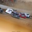 Scott Bloomquist, Gregg Satterlee, Bobby Pierce and Darrell Lanigan, Josh Richards at Atomic Speedway 2339