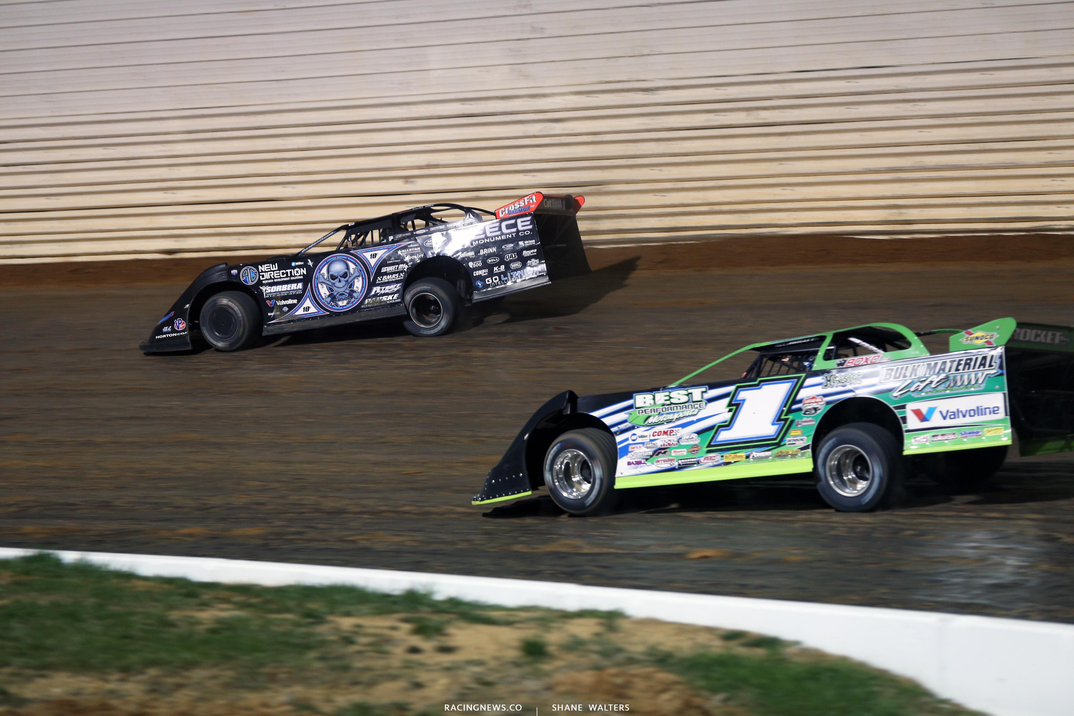 Scott Bloomquist and Josh Richards at Port Royal Speedway 4034