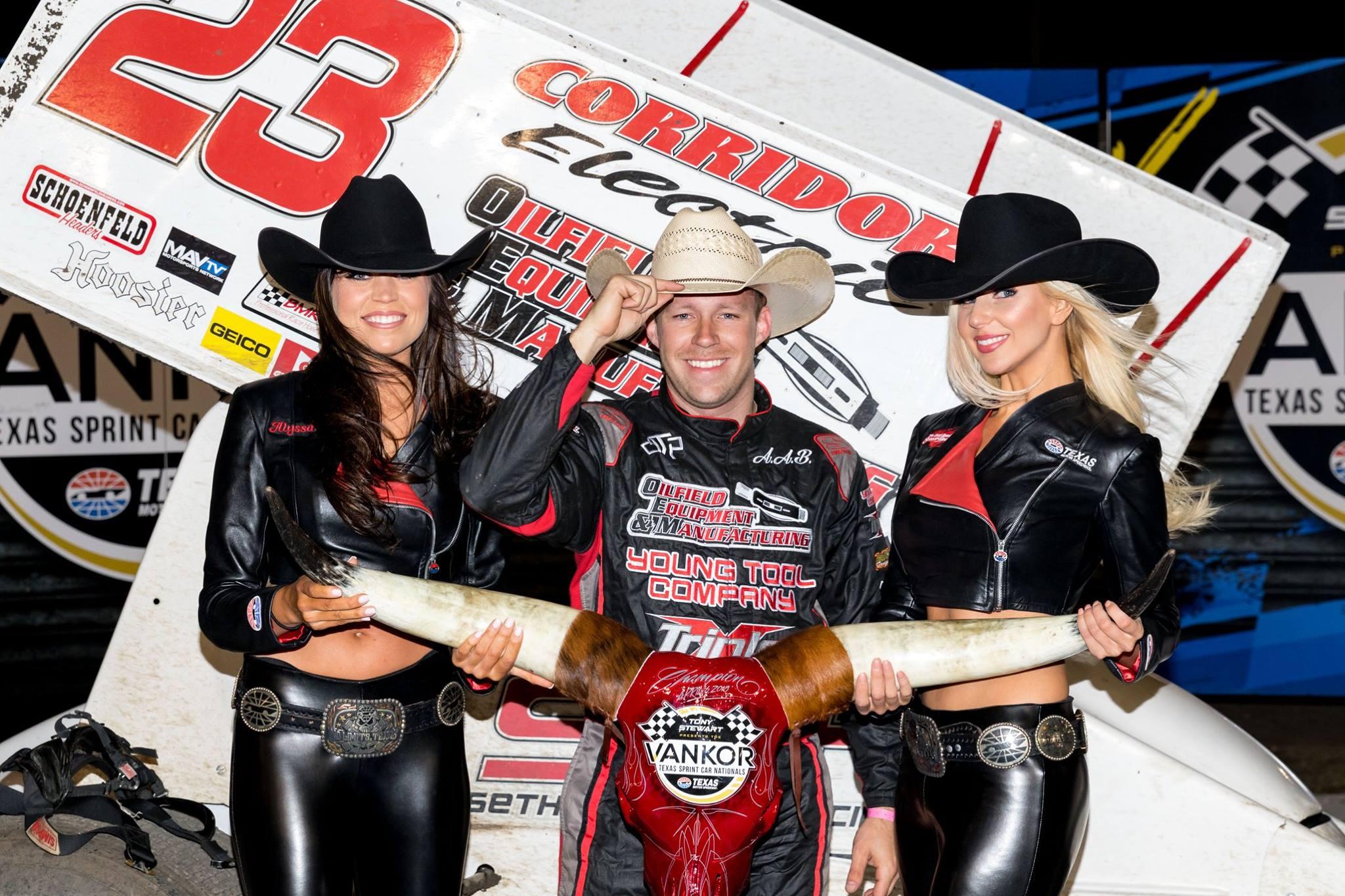 Seth Bergman wins at the Texas Motor Speedway Dirt Track