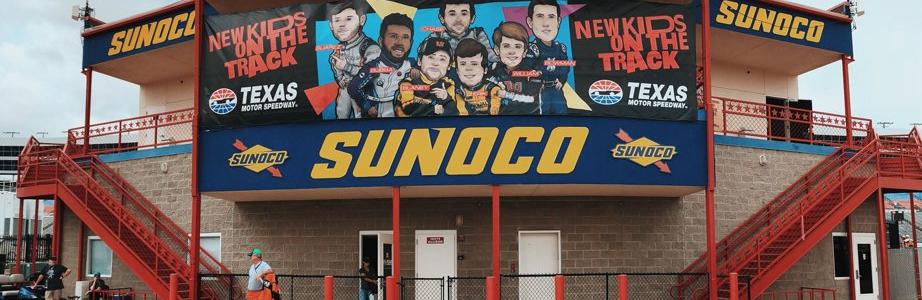 Texas Motor Speedway: New kids on the block banner