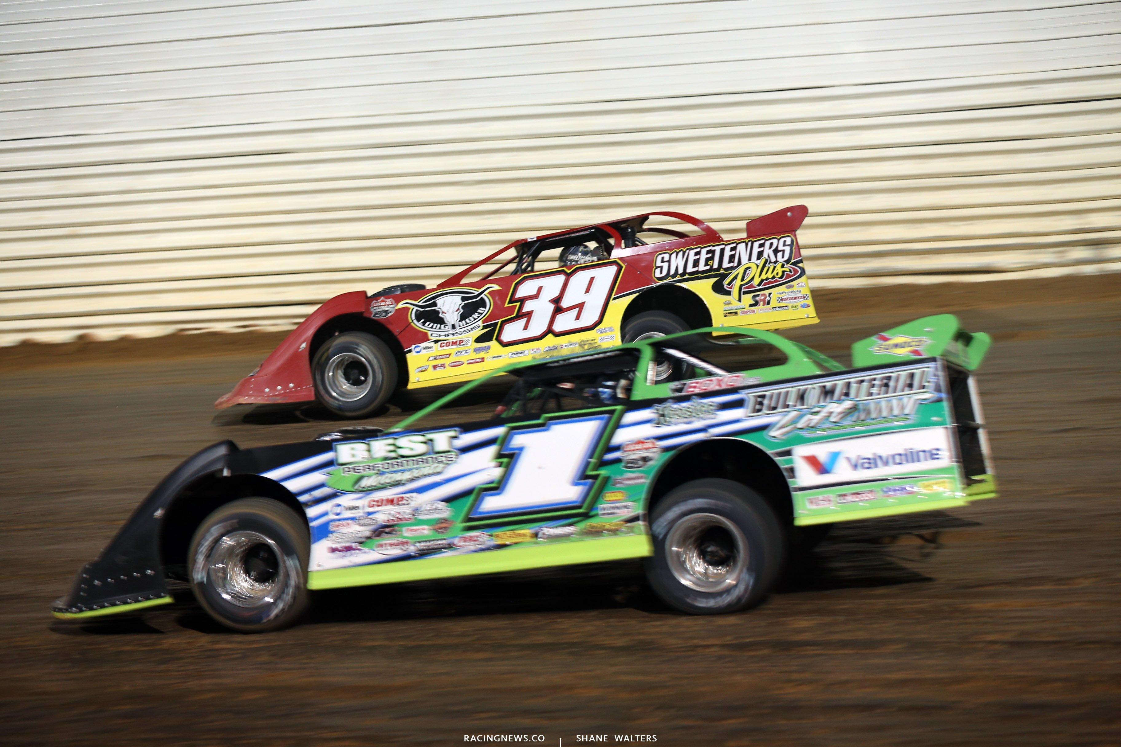 Tim McCreadie and Josh Richards at Port Royal Speedway 4030