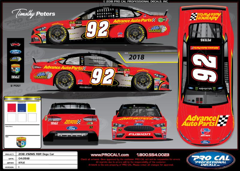 Timothy Peters - NASCAR Cup Series