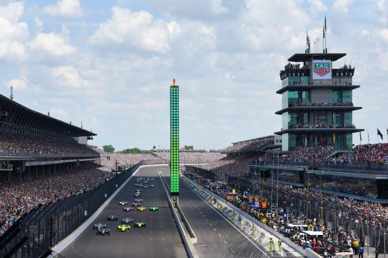 2018 Indy 500 start - Verizon Indycar Series