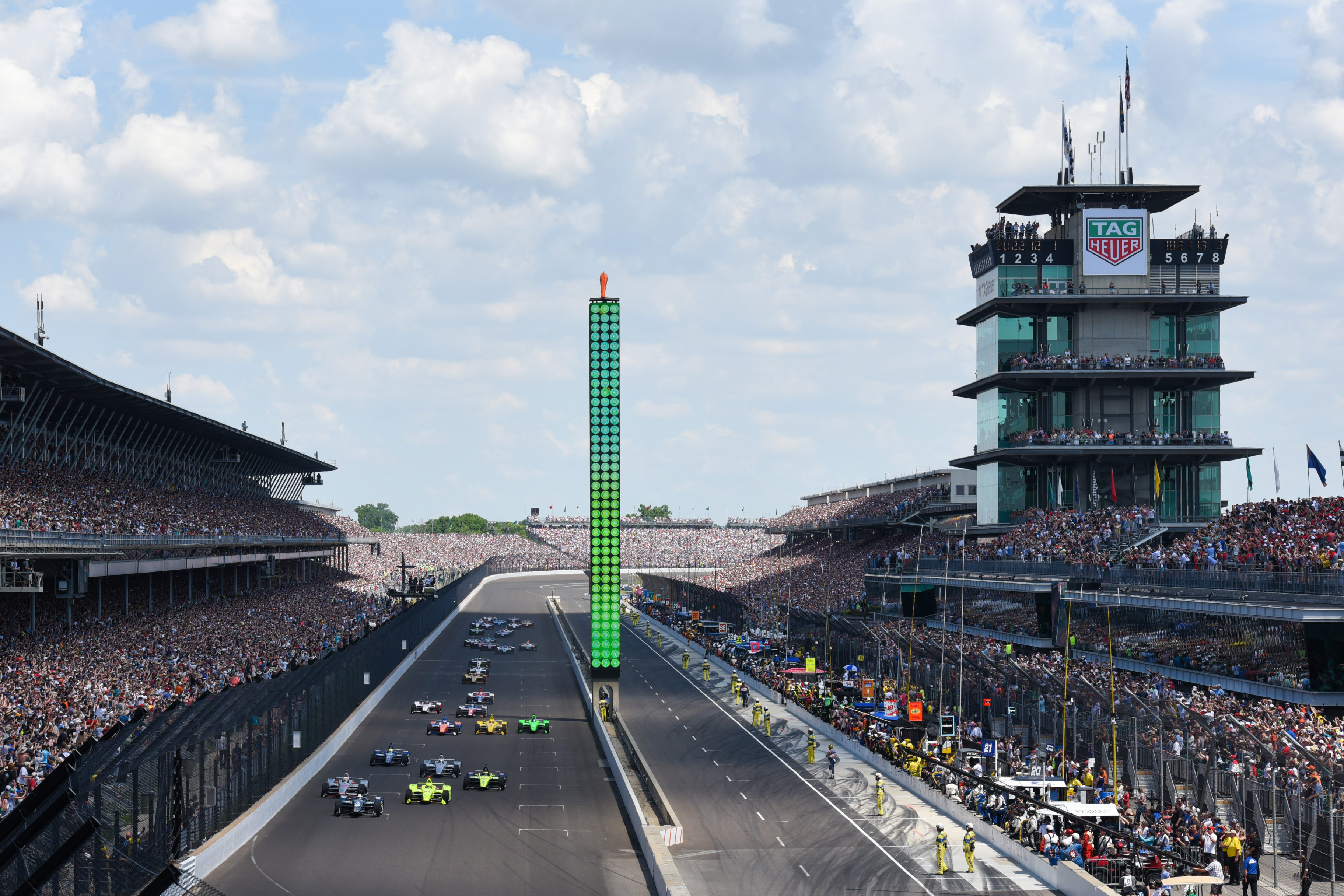 2018 Indy 500 start - Verizon Indycar Series