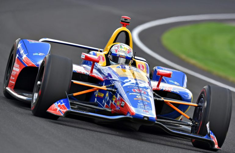 Alexander Rossi in the 2018 Indianapolis 500