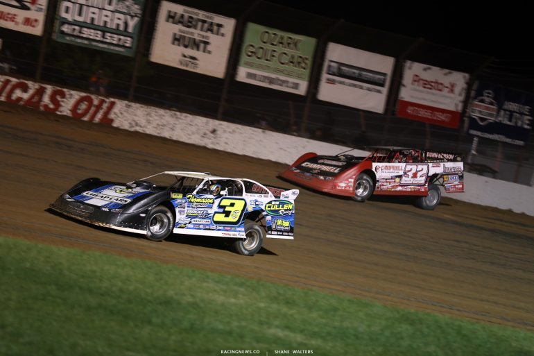 Brian Shirley and Bobby Pierce at Lucas Oil Speedway 9108