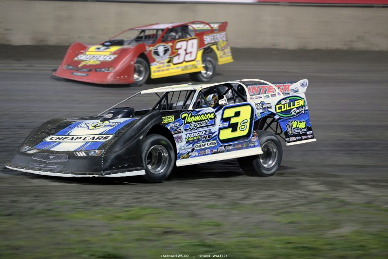 Brian Shirley and Tim McCreadie at Tri-City Speedway 4604