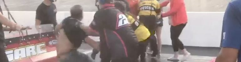 Bristol Motor Speedway fight: Jack Smith and Justin South (Video)