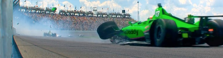 Danica Patrick out early in her final race – 2018 Indy 500 crash video