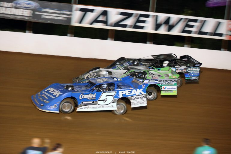 Don O'Neal, Josh Richards and Jason Jameson at Tazewell Speedway 5751