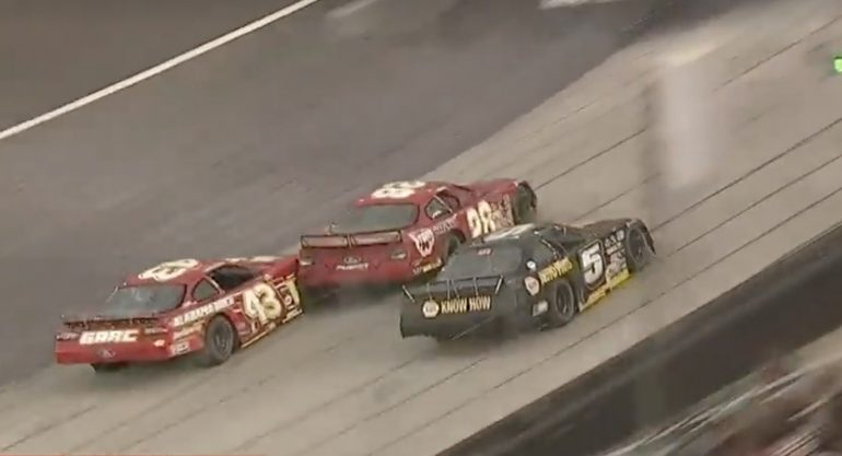 Jack Smith and Justin South in the CRA Pro Late Model race at Bristol Motor Speedway