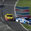 Joey Logano and Kyle Larson at Charlotte Motor Speedway