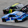 Justin Allgaier and Elliott Sadler at Dover International Speedway