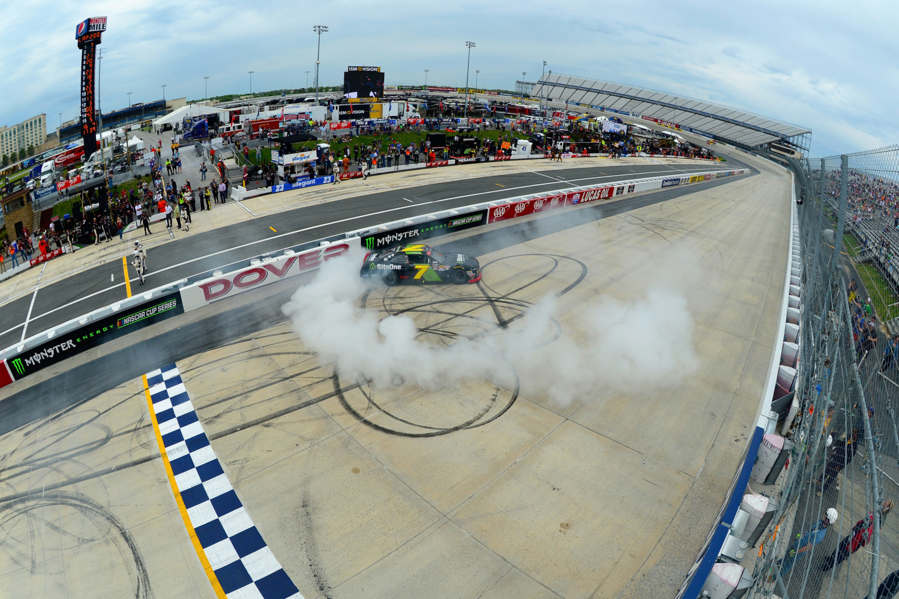 Justin Allgaier wins the NASCAR Xfinity Series race at Dover International Speedway