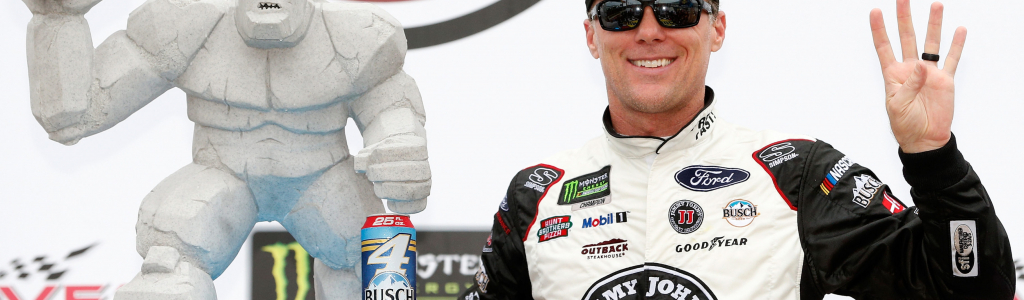 Harvick's first Dover trophy ended up with a broken arm via his son Keelan