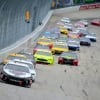 Kevin Harvick leads Brad Keselowski at Dover International Speedway