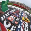 Kyle Busch leads them to the green in the 2018 Coca-Cola 600 in Charlotte, NC