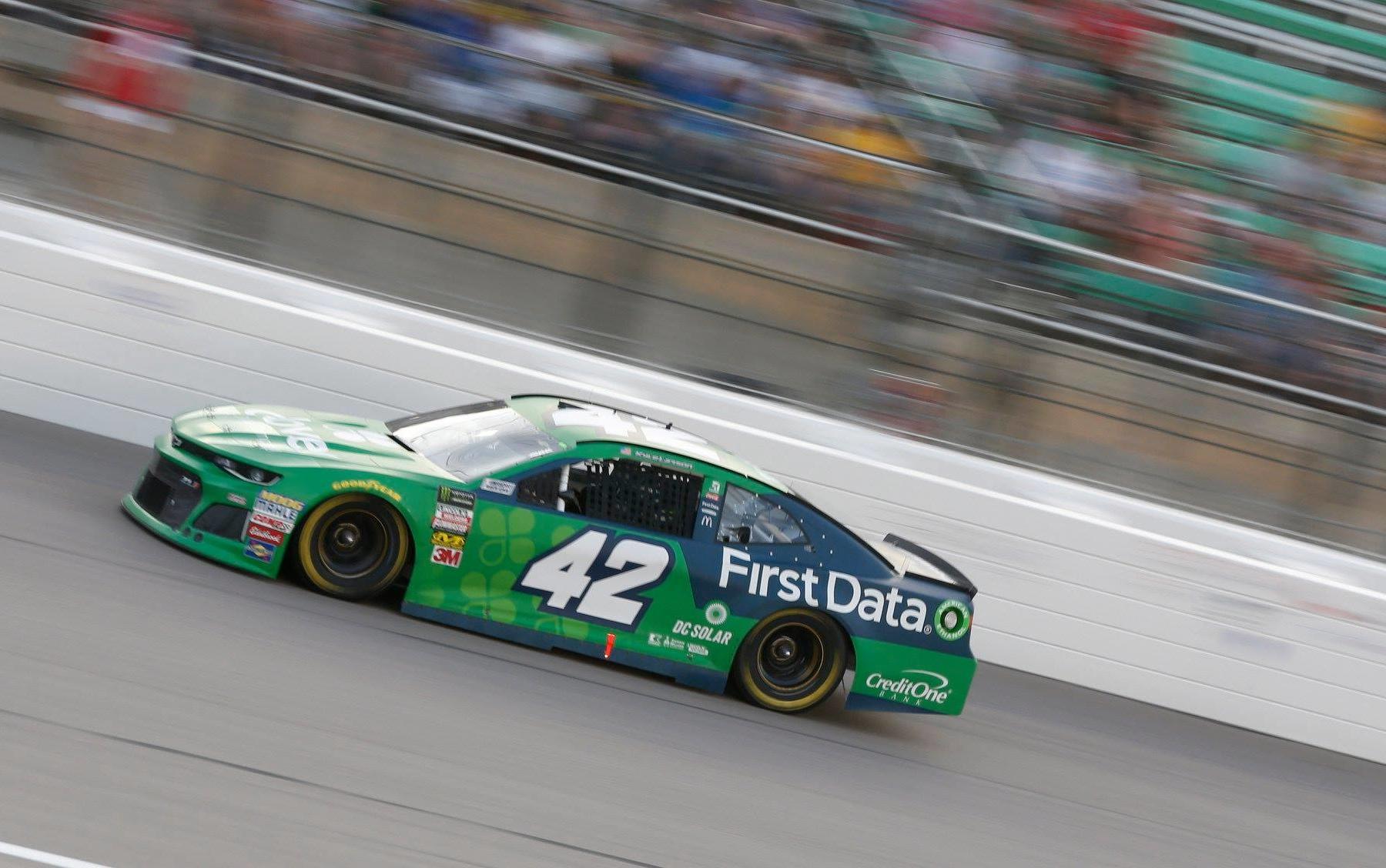 Kyle Larson at Kansas Speedway NASCAR