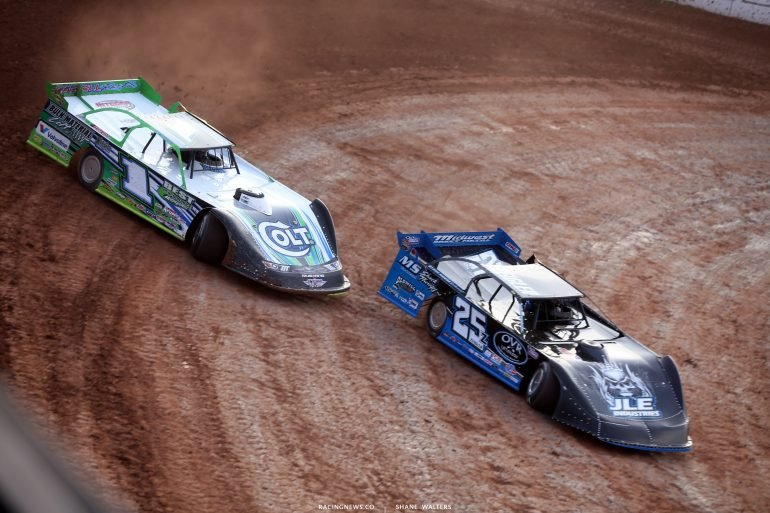 Mason Zeigler and Josh Richards at 141 Speedway