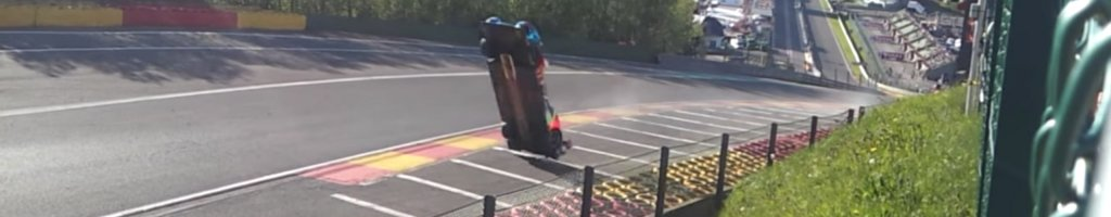 FIA blowover crash, aerodynamics lifted the car off the ground into backflip (VIDEO)