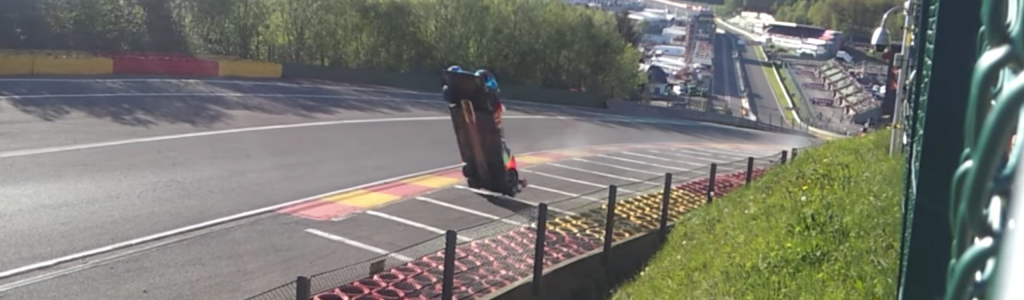 FIA blowover crash, aerodynamics lifted the car off the ground into backflip (VIDEO)