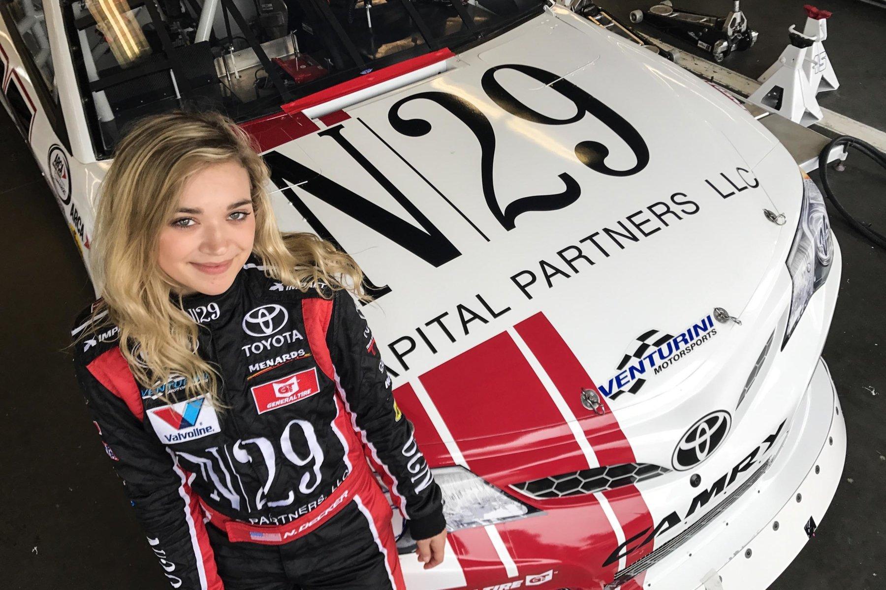 Natalie Decker at Daytona International Speedway - ARCA Racing Series