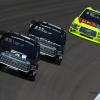 Noah Gragson, Kyle Busch and Matt Crafton at Kansas Speedway
