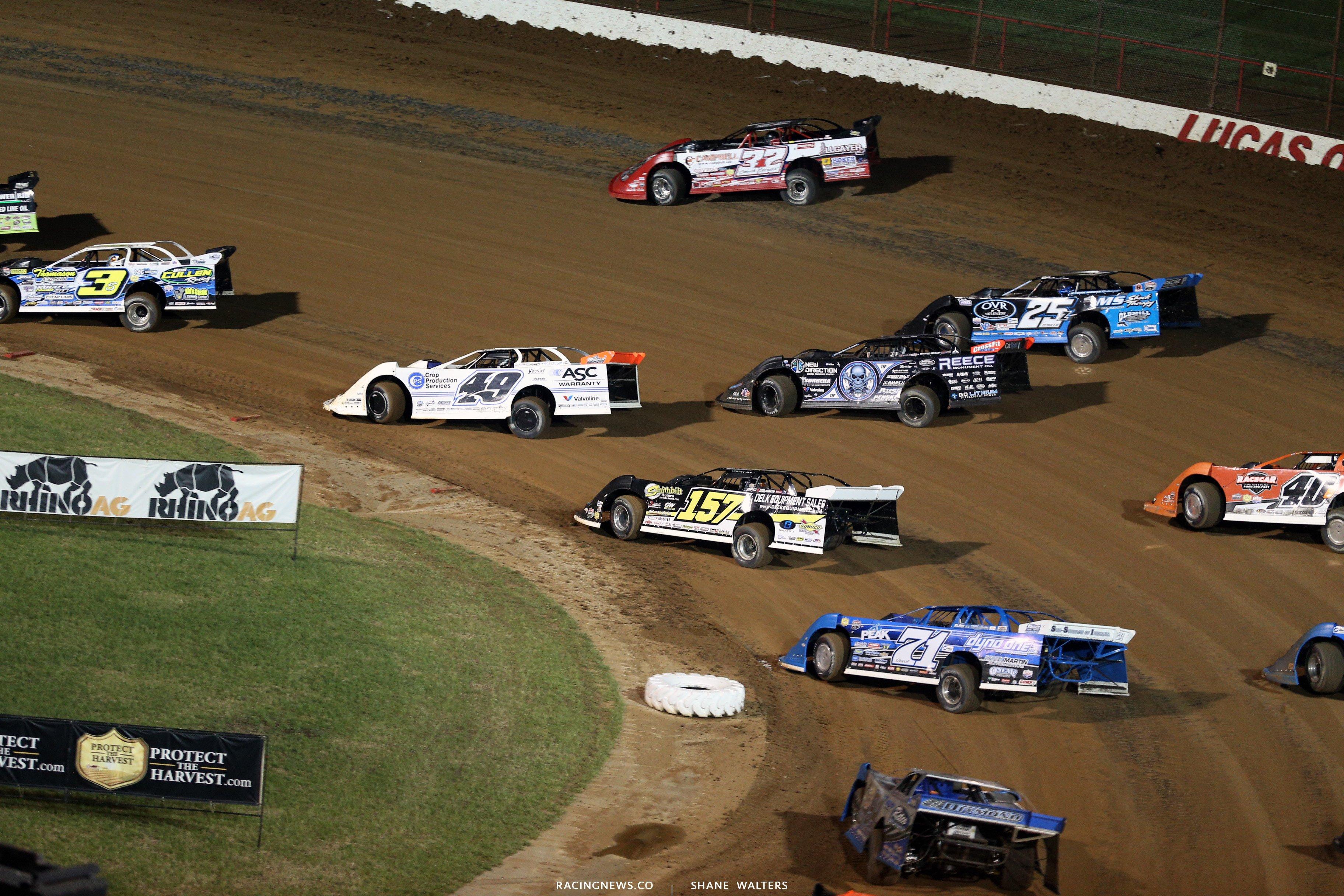 Scott Bloomquist at Lucas Oil Speedway 8545