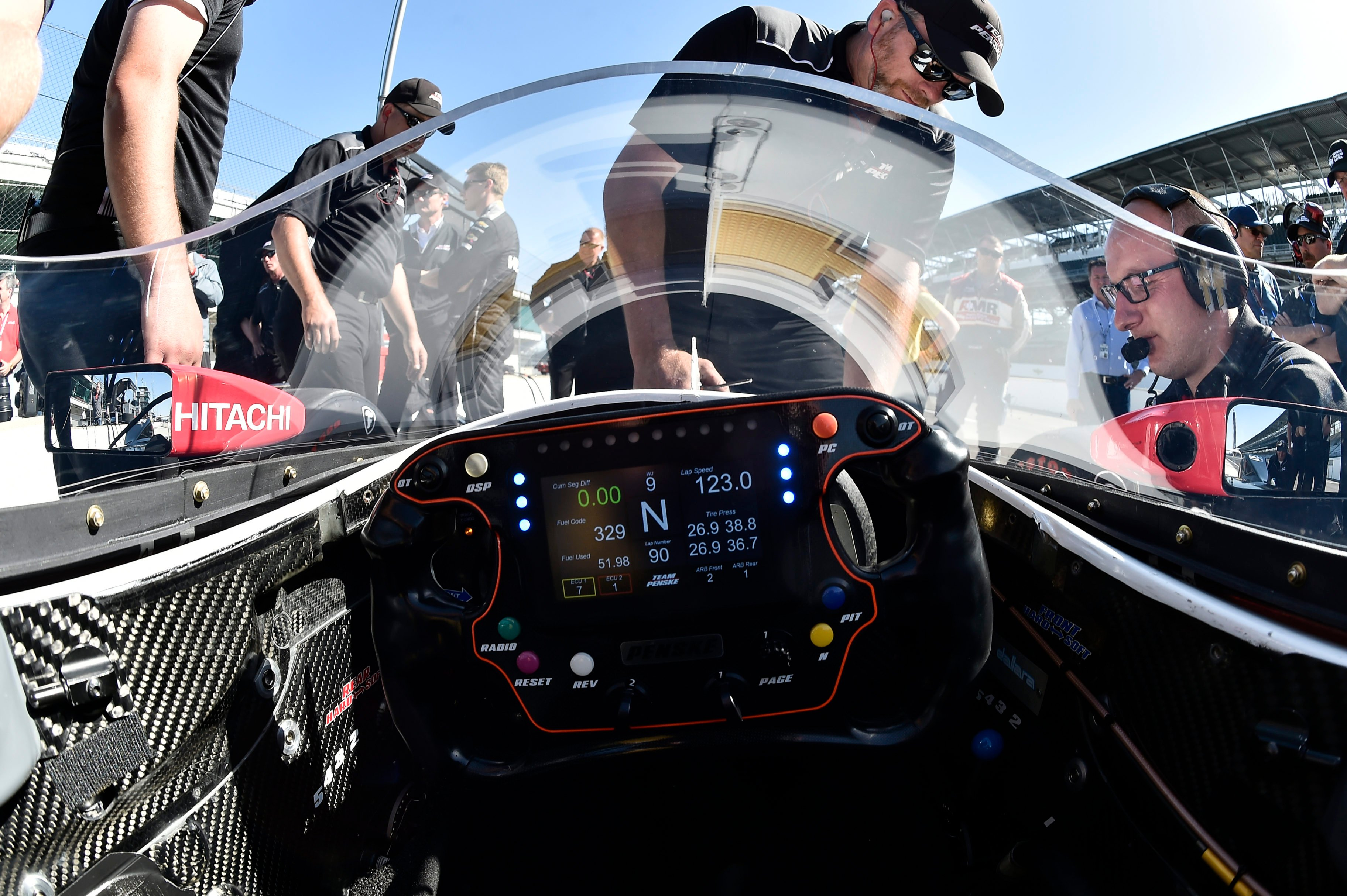 Indycar windscreen photos from the first on track test for Indianapolis motor speedway indianapolis in